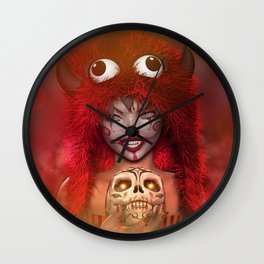 Pretty Little Monster Wall Clock
