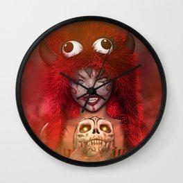 Pretty Little Monster Wall Clock