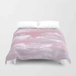 Clouds in a Pink Sky Duvet Cover
