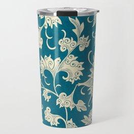 Chinese Ornament Blue - Vintage Art Print -1867 Travel Mug