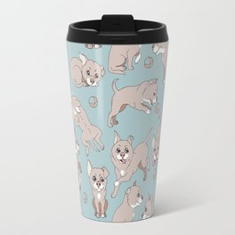 puppies playing ball Travel Mug