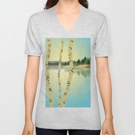 Birches View Unisex V-Neck