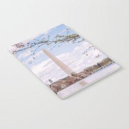 Washington DC Cherry Blossoms - Washington Monument Notebook