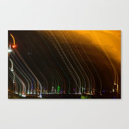 Blurred Dallas Skyline Canvas Print