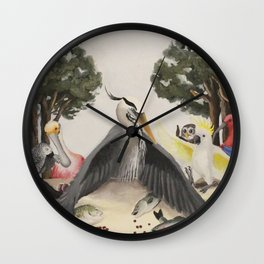Last Bird Supper Wall Clock