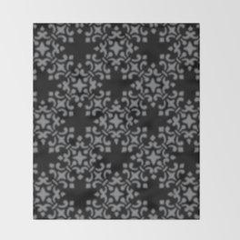 Sharkskin Vintage Brocade Damask Throw Blanket