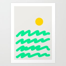 Abstract Landscape 07 Art Print