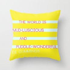 Puddle Wonderful Throw Pillow