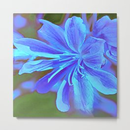 Blinded by Blue Metal Print