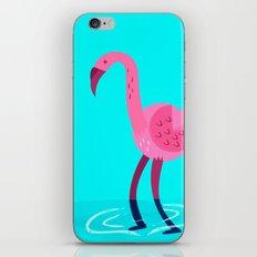 Flamingo illustration  iPhone & iPod Skin