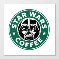 starwars Canvas Prints featuring StarWars Coffee by Unicity