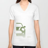 mini V-neck T-shirts featuring MINI by ARCHIGRAF