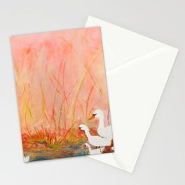 Gooses day out on the pond Stationery Cards