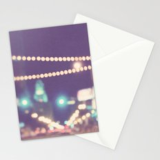 Sparkle No.2. downtown Los Angeles at night photograph Stationery Cards