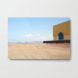 Building on Lanzarote Metal Print
