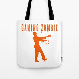 Funny Gaming Zombie Tote Bag