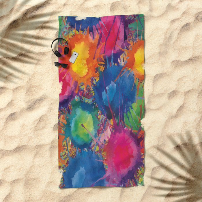 Color explosion Beach Towel