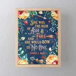 Ash & Fire Framed Mini Art Print