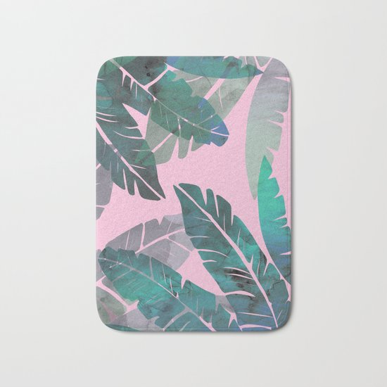 Banana Leaves Bath Mat