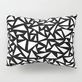 White triangles on Black background Pillow Sham