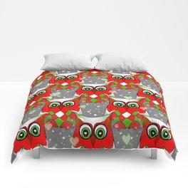 Festive Owl Comforters