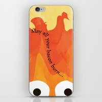 calcifer iPhone & iPod Skins featuring Calcifer's Curse by HSuits