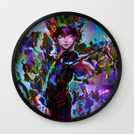 mob psycho 100 Wall Clock