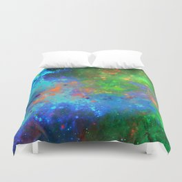 Speed Of Light - Abstract space painting Duvet Cover