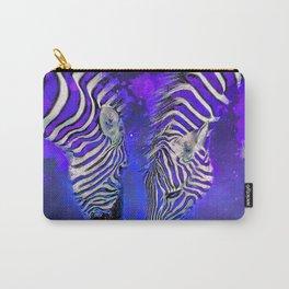 Night Sky Zebra Ultra Violet Carry-All Pouch