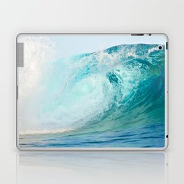 Pacific big surfing wave breaking Laptop & iPad Skin