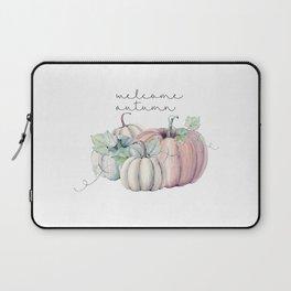 welcome autumn orange pumpkin Laptop Sleeve