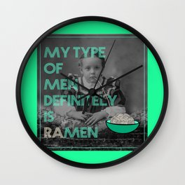 ramen lover Wall Clock