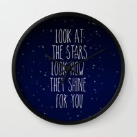 coldplay Wall Clocks featuring Look How They Shine For You 2.0 by Adel
