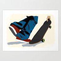 skate Art Prints featuring skate by the lazy pigeon