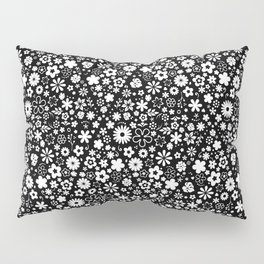 ZARAS FLOWER GARDEN BLACK AND WHITE Pillow Sham