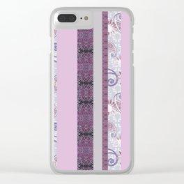 zakiaz French Stripe Lavender Clear iPhone Case