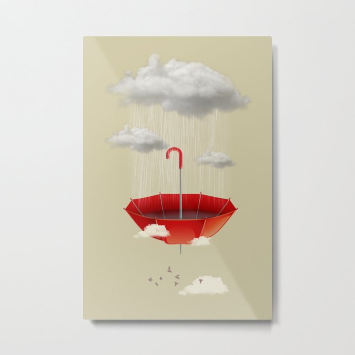 Saving the rain Metal Print