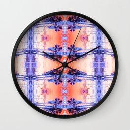 Tar Palm Reflection 1 Wall Clock