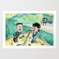 korean Art Prints featuring Korean Sandbox  by Kyle McDonald