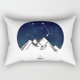 Astrology Aries Zodiac Horoscope Constellation Star Sign Watercolor Poster Wall Art Rectangular Pillow