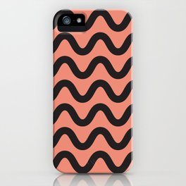 Coral Ripple iPhone Case