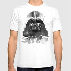 Darth Vader White Mens Fitted Tee SMALL
