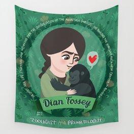 Women in science | Dian Fossey Wall Tapestry