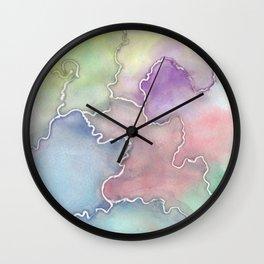 Soft Cracks  Wall Clock