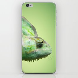 Polygonal Chameleon iPhone Skin