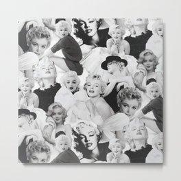 Marilyn Collage Monroe Metal Print