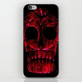 Sugar skull red iPhone Skin
