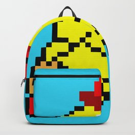 Jumping Pacland retro game sprite Backpack