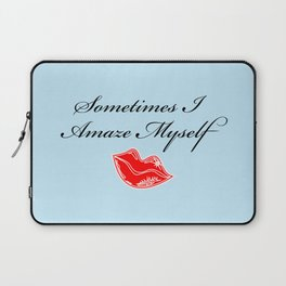 """""""Most of the Time, Actually"""" Laptop Sleeve"""