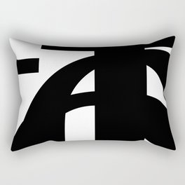Hidden Letters. Baskerville F Rectangular Pillow